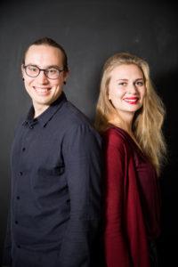 Vihreiden nuorten puheenjohtajat Sameli Sivonen ja Amanda Pasanen